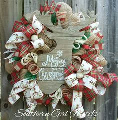 Merry Christmas!!! Check out this item in my Etsy shop https://www.etsy.com/listing/488645537/deer-christmas-wreath-christmas-wreath