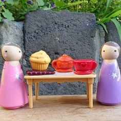 The fairies came for tea to discuss an exciting giveaway.details to be announced soon 😊 Wax Crayons, Teacup, Wooden Toys, Fairies, Collaboration, Tea Party, Giveaway, Cupcake, Folk