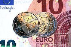 Original photo 2 euro commemorative coin red cross, belgium