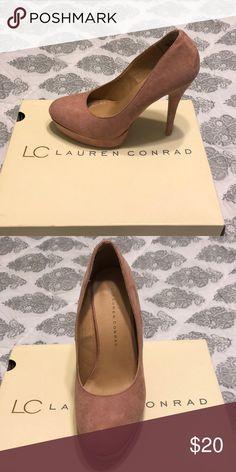 Lauren Conrad pink heels Cute Lauren Conrad heels. Suede like material. Barely worn LC Lauren Conrad Shoes Heels