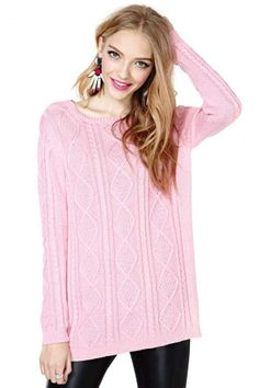 MinkPink Cable Traveler Sweater