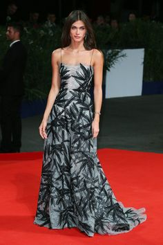 Pin for Later: See All the Best Dressed Stars at the Venice Film Festival Elisa Sednaoui The stunning actress chose a stunning Armani Prive gown with a leaf-covered mesh detail for the premiere of De Palma, teamed with Buccellati jewels