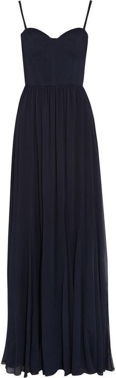 Alice + Olivia Percie bustier chiffon maxi dress
