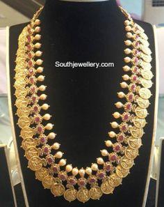 Uncut Diamond Lakshmi Kasu Mala photo