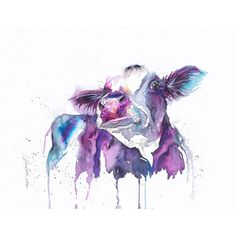 Nicola Jane Rowles Art - Who me Cow Art, Watercolor Tattoo, Watercolour, Moose Art, My Arts, Colours, Art Prints, Handmade Gifts, Animals