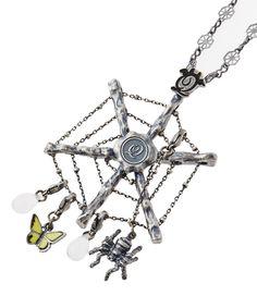 Spider web necklace set by Q-Pot