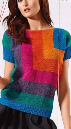 Intarsia sweater Verena
