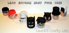 Lego Batman baby food jars