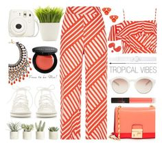 """""""Tropical Vibes"""" by chocolate-addicted-angel ❤ liked on Polyvore featuring River Island, Chloé, Michael Kors, self-portrait, Oscar de la Renta, Allstate Floral, Etro, Dot & Bo, NARS Cosmetics and Bobbi Brown Cosmetics"""