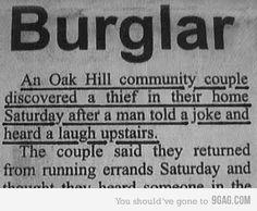 Haha, burglar fail