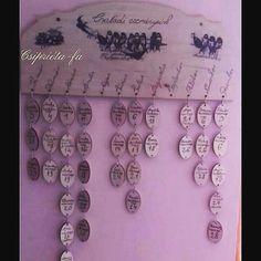 Elfelejted a születés, vagy névnapokat?Itt a megoldás!Családi eseménynaptár😊 #családi #eseménynaptár #egyedi #kézműves #imádnifogod… Washer Necklace, Jewelry, Jewlery, Jewerly, Schmuck, Jewels, Jewelery, Fine Jewelry, Jewel