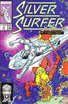Silver Surfer - cover by Ron Lim: his style defined the Surfer for me as a kid.