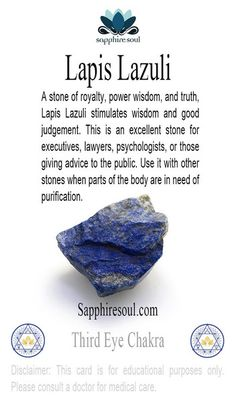 Gem of the week: #lapislazuli http://soulistic-life.myshopify.com/products/raw-lapis-lazuli?utm_content=buffer7f46d&utm_medium=social&utm_source=pinterest.com&utm_campaign=buffer #gemoftheweek #sapphriesoul