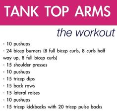 Arm workout - let's do this