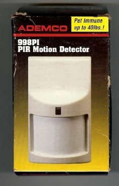 35' X 45' Pet Immune (UP TO 40lbs) Motion Detector by Ademco. $14.50. This easy to mount motion detector is Pet immune for your pets up to 40 pounds.  IT provides a large coverage pattern of 35 x 45 feet.