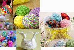 Easy to crochet Easter egg patterns