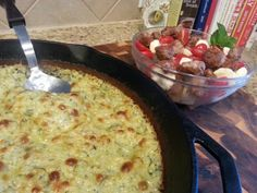 Caprese  salad with Italian sausage and the bomb zucchini gratin. Recipe found on the Nourished Kitchen Facebook page.