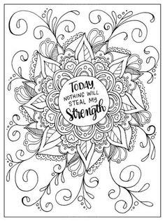 Motivational Mandala Free Coloring Pages Para Colorear Coloring