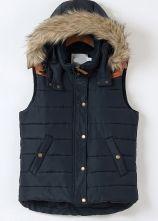 Blue+Faux+Fur+Hooded+Sleeveless+Vest+US$43.61