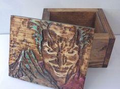 joker keepsake stash wood box