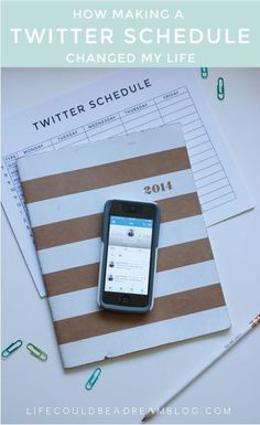 How Creating a Twitter Schedule Changed My Life  #twittermarketing