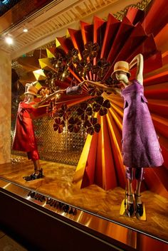 ♂ Commercial Space  Retail design visual merchandising window display, Louis Vuitton Christmas Windows 2012