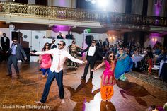 Indian wedding reception dance performace http://www.maharaniweddings.com/gallery/photo/122457