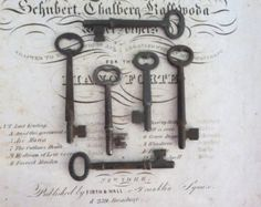 6 vintage skeleton keys, antique keys, old antique keys, antique skelton keys, wedding keys, antique key to my heart, steampunk old, bit. 3