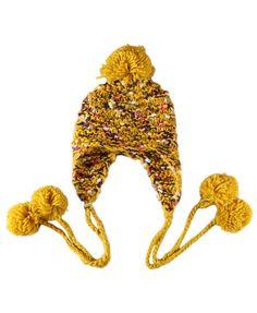 Pom Hat | More stripes, polka dots and pom poms here: http://mylusciouslife.com/colour-textiles-stripes-polka-dots-pom-poms/