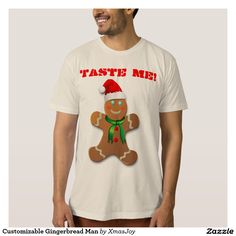 Customizable Gingerbread Man Tees