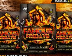 """Check out new work on my @Behance portfolio: """"Famous Fridays Flyer Template"""" http://on.be.net/1Md04l5"""
