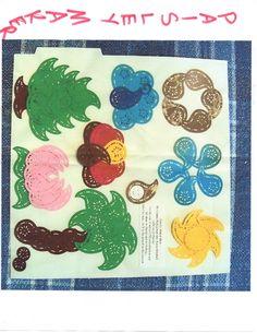 Christmas tree; peacock; flower; sun; lotus; palm tree; turkey ~ Paisley Maker