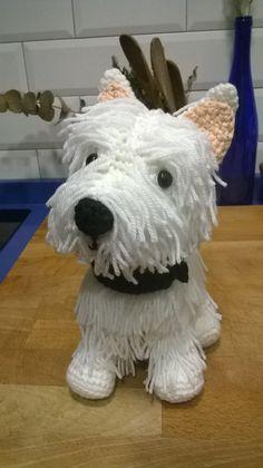 westy perro crochet