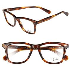 Women's Ray-Ban 'Icon - Wayfarer' 52mm Optical Glasses ($195) ❤ liked on Polyvore