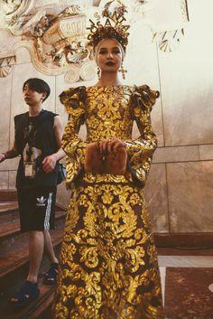 "Dolce & Gabbana Present Their Alta Moda in Palermo's ""Square of Shame"""