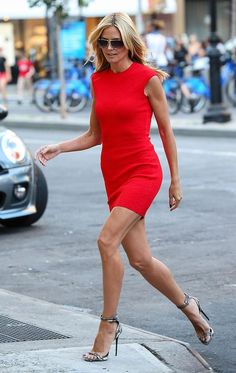 With the premiere of season of Project Runway less than a month away, Miss Heidi Klum would like to remind you that. Heidi Klum out and about in Cheap Nice Dresses, Cute Red Dresses, Flower Dresses, Sexy Legs And Heels, Beautiful Legs, Beautiful People, Mannequins, Supermodels, Catwalk