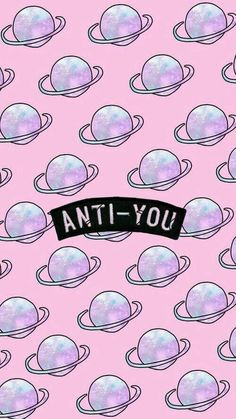 Anti you wallpaper. Plano de fundo para celular, pink background. Pinterest: @giovana