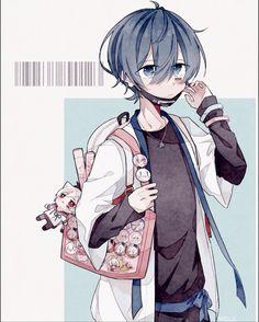 Mafumafu (kinda looks like Soraru here. Chibi Anime, M Anime, Anime Demon, Kawaii Anime, Anime Guys, Anime Art, Cute Anime Pics, Cute Anime Boy, Kaito Shion