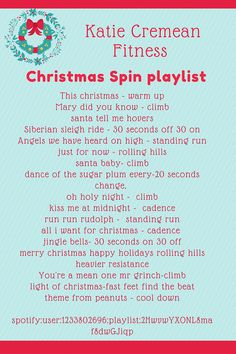 I created a great christmas spin playlist for class today and so excited to use it again on Wednesday. It was festive but allowed for a GREAT sweat sessio