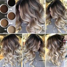 Brown Hair Balayage, Brown Blonde Hair, Hair Color Balayage, Brunette Hair, Medium Blonde, Brunette Color, Bayalage, Hair Medium, Haircolor