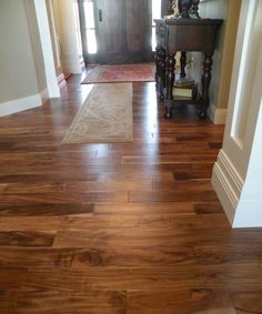 Acacia Wood Floor Design Ideas, Pictures, Remodel, and Decor Acacia Hardwood Flooring, Hardwood Floor Colors, Engineered Hardwood, Hardwood Floors, Floor Design, House Design, Into The Woods, Living Room Flooring, Plank