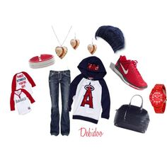 Angels Baseball Outfit❤  LOVE this!!