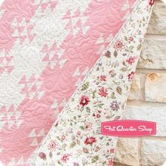 Wild Geese Straight Furrows Quilt Kit Featuring Jardin de Versailles by French General   Fat Quarter Shop