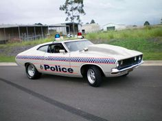 XB Falcon Couple Police Car