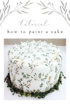 Tutorial: How to paint a cake for a wedding or a celebration. Step-by-step instructions on how to paint a cake. By cake maker Jemima O'Lone of Mimolo Design. decorating Masterclass - How to paint a cake — Mimolo Design Pretty Cakes, Cute Cakes, Beautiful Cakes, Amazing Cakes, Beautiful Cake Designs, Sweet Cakes, Cake Decorating Techniques, Cake Decorating Tutorials, Wedding Cake Tutorials