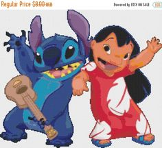 ON SALE Counted Cross Stitch Pattern lilo and by lovemystitch