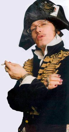 Adam Ant/ Any man who'z rockin nail polish so well at almost 60 rulez...