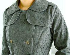 The Weatherproof Lace Trenchcoat sewaholic's Robeson coat pattern