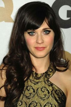 The Hottest Long Hairstyles & Haircuts For 2014 - Zooey Deschanel