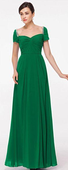 plus size emerald green evening dress